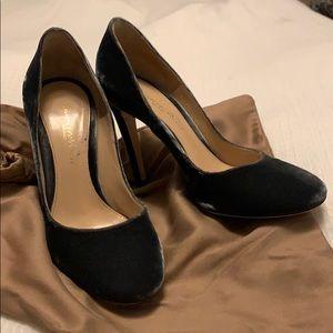 Gianvito Rossi Velvet Heels
